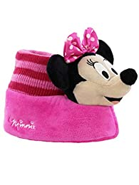 Image of Disney Pink Minnie Mouse Slippers for Toddler Girls