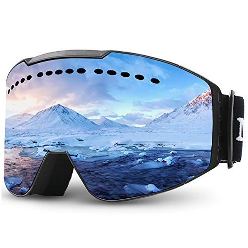Juli Ski Goggles,Winter Snow Sports Snowboard Goggles with Anti-Fog UV Protection Double Lens for Men Women & Youth Snowmobile Skiing Skating M2