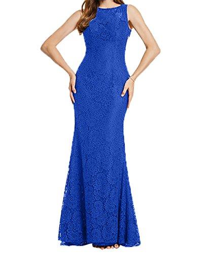 Hell Spitze Ballkleider Charmant Brautmutterkleider Figurbetont Abendkleider Lang Festlichkleider Etuikleider Blau Damen Royal zwqB57