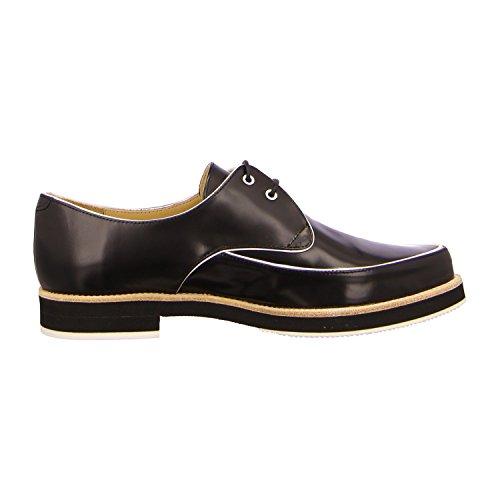 Slack London 18319 - Zapatos de cordones para mujer Negro - dandy soft black