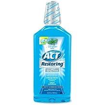ACT Restoring Mouthwash, Cool Splash Mint , 33.8-Ounce Bottles (Pack of 3)