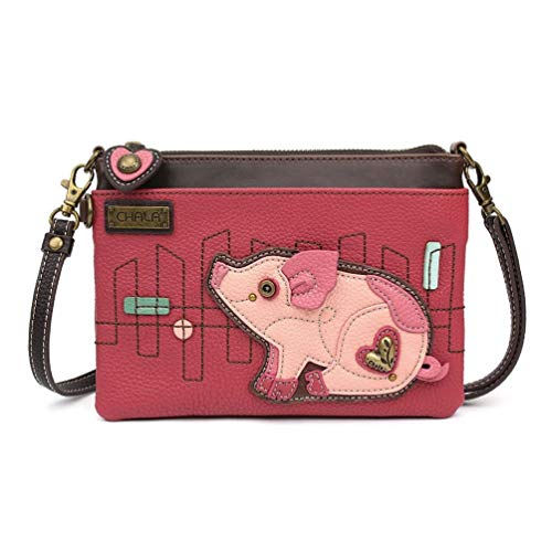 Chala Mini Cross-body Messenger Bag (Pig Pink) Cell Phone Purse Charm