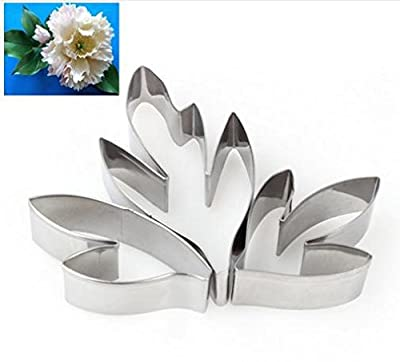 Biscuit - 1set Stainless Steel Sugar Flower Cut Peony Leaf Flip Cake Cookie Cutter - Mini Flower Kettlebell Plastic Tractor Cookie Baby Hearts Bone Love Jalapeno Birthday Iron