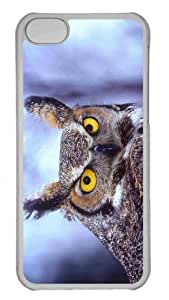 Customized iphone 5C PC Transparent Case - Eagle Owl Personalized Cover