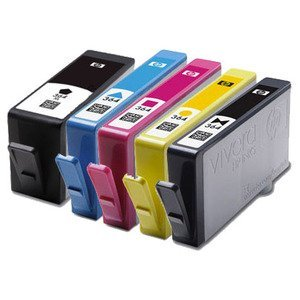 set of 5 high capacity 100 compatible ink cartridges for. Black Bedroom Furniture Sets. Home Design Ideas