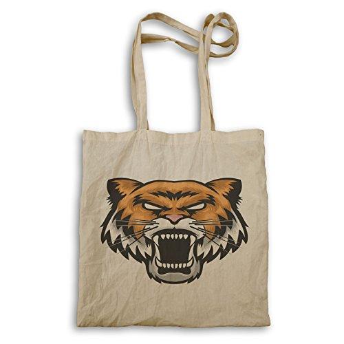 Wütendes Tigergesicht Tragetasche u626r