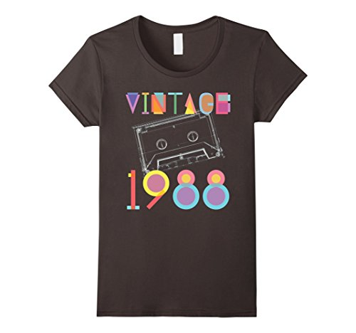 Womens 1988 Birthday Gifts 29 Years Old Birthday 29th birthday XL Asphalt (Birthday Gifts For 29 Year Old Female)
