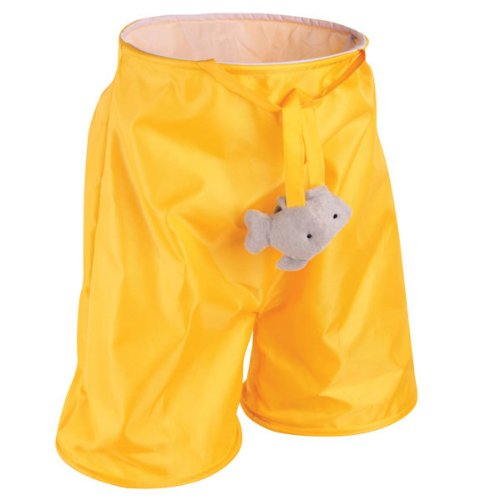 Zanies Fish'N Fun Nylon Cat Play Tunnel Pant, 20-Inch, Yellow, My Pet Supplies