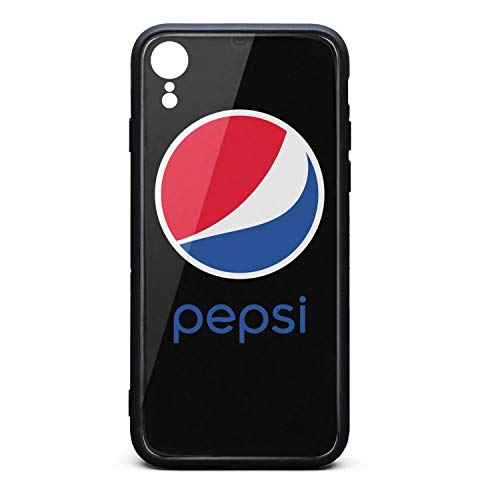 YJRTISF iPhone XR Case Shockproof Case Music Blues Glass Rear Cover 9H Tempered Glass Back Cover Pepsi-Logo- Scratch Resistant Soft TPU Material Bumper for iPhonexr