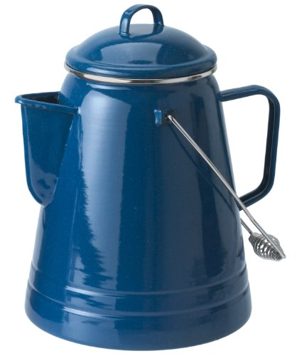 GSI Outdoors Pioneer Coffee Boiler 36 Cup, Blue Enamel Water