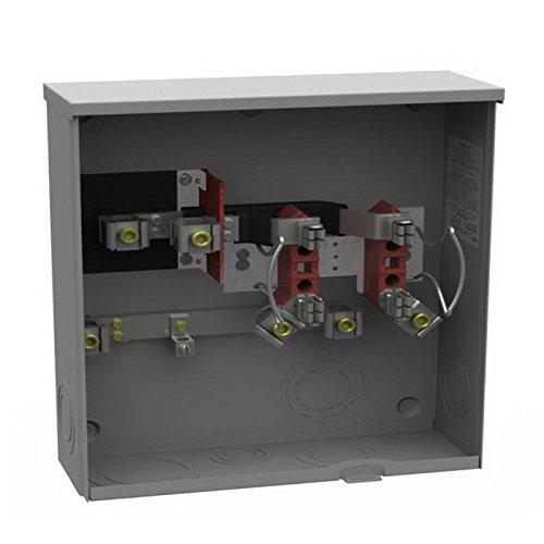 Milbank U1980-O 1 Phase Ringless Meter Socket 4 Jaw 1 Position 200 Amp