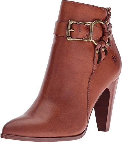 Frye Women's Roxanne Ring Short Cognac Smooth Full Grain Boot 6 B (M)