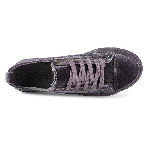 KIX Womens Twisted Fashion Twisted Sneakers Grey KIX Womens Velvet nqzwIA