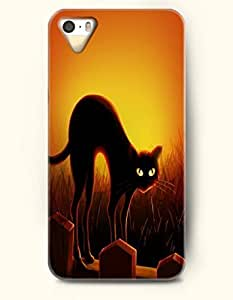 chen-shop design SevenArc iPhone 5 5s Case - Halloween 31 October Black Trees With Eyes In Blue Night high quality