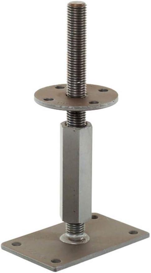 207 mm Rechts//Links Gewinde Verstellbereich 142 mm bis Pitzl Pfostentr/äger