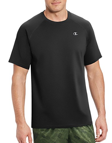 Champion Men's Double Dry Select Tee with FreshIQ, Black, XL
