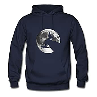 Climber And Wolf Navy Image Creative Women X-large