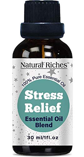 (Stress Relief Anxiety Relief Essential Oil Blend 100% Pure, Therapeutic Grade Aromatherapy Essential Oil - 30ml -Ylang Ylang, Geranium, Lemongrass, Tangerine and Blood Orange for Relaxation.)