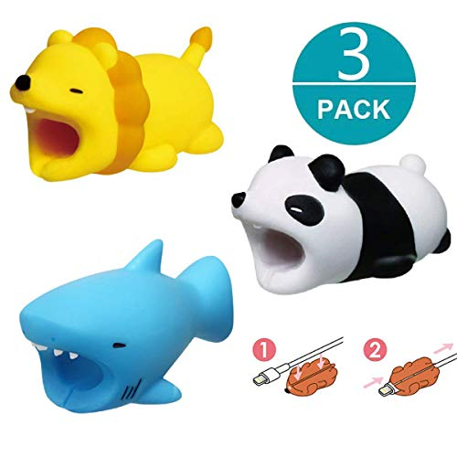 3 Pack Cable Bite Animal Bite Cable Protector for Phone Cable Cord Chargers