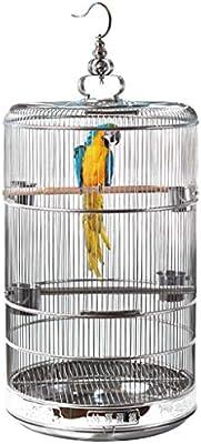 LSWUDU Encriptación de Jaula de pájaros de Acero Inoxidable ...
