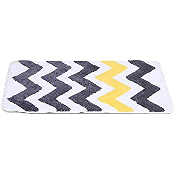 Chevron Bathroom Rug,Uphome Elegant Microfiber Non Slip Soft Decorative Bath  Rug Bathroom Doormat