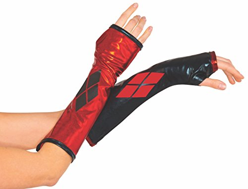 Rubie's Costume Co Harley Quinn Arm Warmers - Batman Gauntlets for teens and adults -