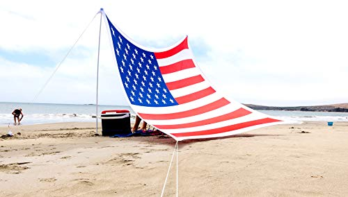 Ajeena Beach Sun Shade American Flag Style - Sunshade That Will Make You Proud - Lycra UPF50+ Perfect Canopy Tent for Family & Kids in Beach,Event,Parks,Parties,Picnic,Camping & Outdoors (Flags That Look Like The American Flag)