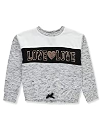MissChievous Girls' Sequin Love Sweatshirt