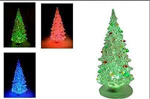Árbol de Navidad de acrílico iluminado con cambio de color 13cm árbol de Navidad batteriebetriebe
