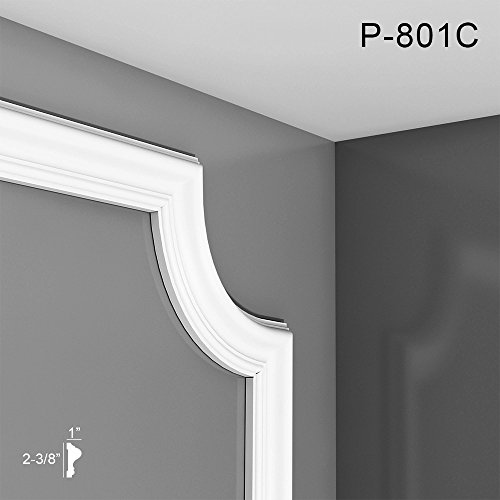 Orac Decor Curve Used with P8020 P-801C Panel Molding Corner Used with P8020, Primed White.