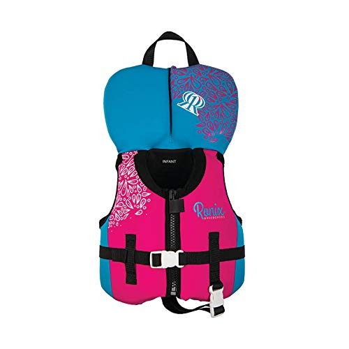 - Ronix August Girl's - CGA Life Vest - Pink/Blue - Infant/Toddler (Up to 30lbs) (2019)