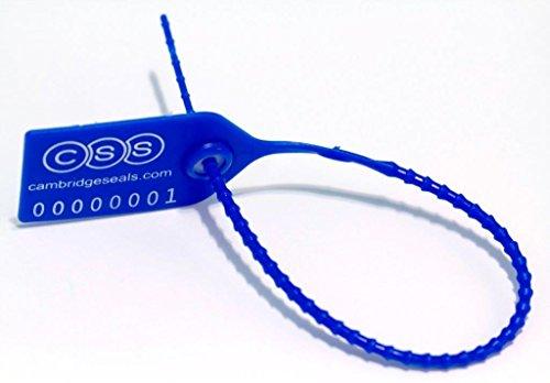 Cambridge Security Seals MPT00102 Medium Pull Tight Seal, Blue (Pack of 1000) by Cambridge Security Seals