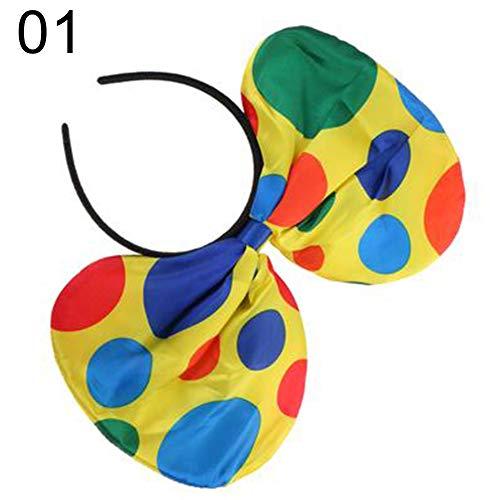 Yinpinxinmao Polka Dot Clown Hat Headband Hair Hoop Circus Jester Fancy Dress Costume Prop 1#]()
