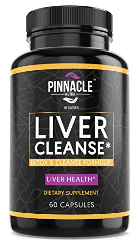 Liver Cleanse Detox Supplement for Liver Health Support - Natural Liver Repair Formula with Milk Thistle Extract, Beet Root, Chanca Piedra, Grape Seed, Turmeric, Artichoke & Ginger - 60 Capsules
