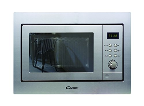 Candy MIC201EX – Microondas integrable con grill y marco, Potencia 800W-1000W, Capacidad 20L, 8 Programas, Acero Inox…