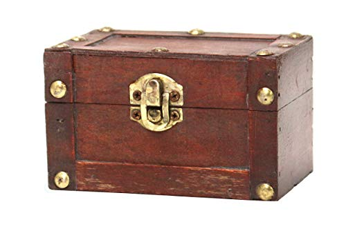 Vintiquewise(TM) Mini Treasure Chest, Small ()