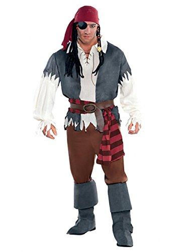 Magic Box Traje del capitán náufrago Pirata Hombre Adulto M ...
