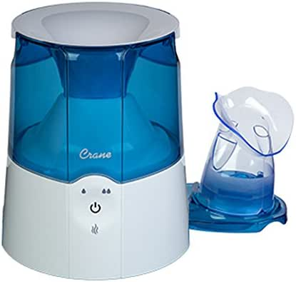 Crane EE-5202 Inhaler & Warm Mist Humidifier, Blue & White