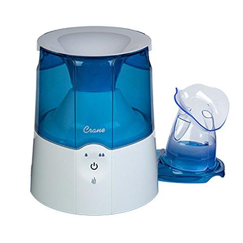 Crane EE-5202 Inhaler & Warm Mist Humidifier, Blue & White (Best Humidifier For Sinus Problems)