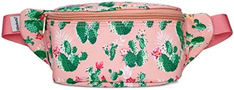e862ea340711 WODODO Cactus Pattern Print Fashion Cute Fanny Pack Women Rave Festival  Party Hiking Travel Hip Packs