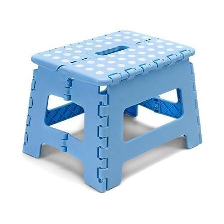 Superbe EBuyGB Folding Kitchen Step/Stool, Blue