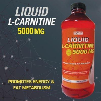 Liquid L-Carnitine 5000 MG - Promotes Energy & Fat Metabolism
