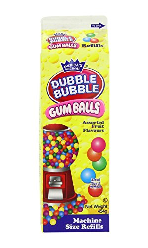 Dubble Bubble Gumballs, 20oz Carton Green Gumball Machine