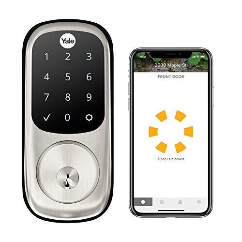 Yale Security Assure Lock Touchscreen with Wi-Fi and Bluetooth Deadbolt - Works with Amazon Alexa, Google Assistant, HomeKit, Airbnb and More - Satin Nickel (YRD226-CBA-619)