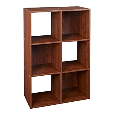 ClosetMaid 4104 Cubeicals 6 Cube Organizer, Dark Cherry