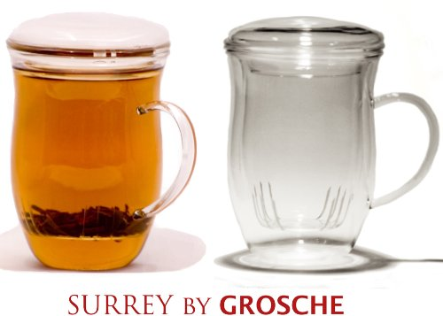 Grosche Surrey 9.1-Ounce Tea Mug with Infuser