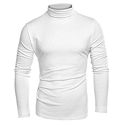Top Ocaler Mens Winter Warm High Neck Jumper Slim Fit Thermal Turtleneck Pullover Sweatershirt Top - Super Soft Cotton for sale