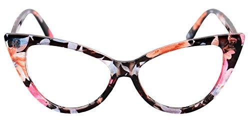 3879b064b2 SOOLALA Ladies 50mm Lens Fashion Designer Cat Eye Reading Glasses  Customized Strengths