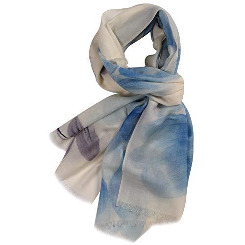 (WAMSOFT Pashmina Shawls Wraps, Womens Girls Fashion Soft Large Warm Hand Painted Blossom Scarf Shawls Wrap(Blossom# Blue, One)
