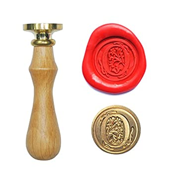 uniqooo arts crafts initial letter o wax seal stamp